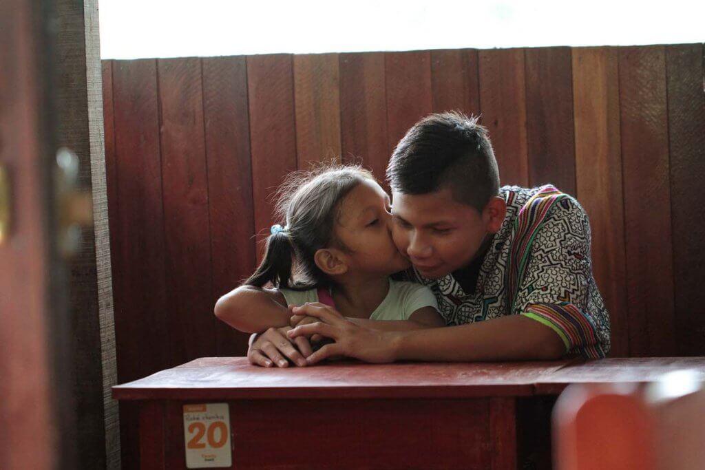 Shipibo students - Pachamama temple